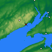 Nearby Forecast Locations - Fundy Park Cs - Map
