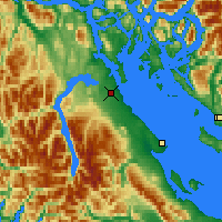 Nearby Forecast Locations - Campbell River - Map