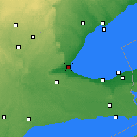 Nearby Forecast Locations - Burlington - Map