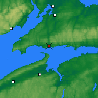 Nearby Forecast Locations - Parrsboro - Map