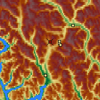 Nearby Forecast Locations - Callaghan Valley - Map
