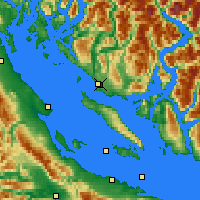 Nearby Forecast Locations - Powell River - Map