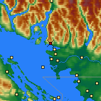 Nearby Forecast Locations - W Vancouver - Map