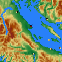 Nearby Forecast Locations - Comox - Map