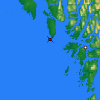 Nearby Forecast Locations - McInnes Isl. - Map