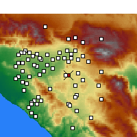 Nearby Forecast Locations - Moreno Valley - Map