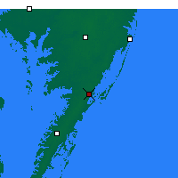 Nearby Forecast Locations - Wallops - Map