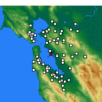 Nearby Forecast Locations - Oakland - Map