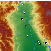 Nearby Forecast Locations - Red Bluff - Map