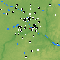 Nearby Forecast Locations - Minneapolis - Map