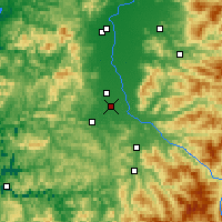 Nearby Forecast Locations - Eugene - Map