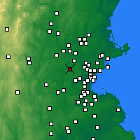 Nearby Forecast Locations - Bedford - Map