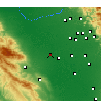 Nearby Forecast Locations - Lemoore - Map