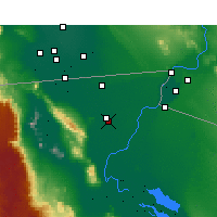 Nearby Forecast Locations - Nuevo León - Map