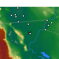 Nearby Forecast Locations - Ejido Nuevo Leon - Map