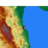 Nearby Forecast Locations - San Felipe - Map