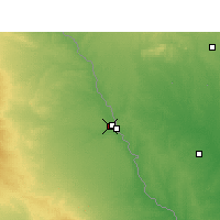 Nearby Forecast Locations - Piedras Negras - Map