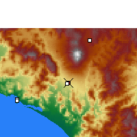 Nearby Forecast Locations - Colima - Map