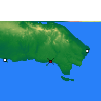 Nearby Forecast Locations - La Romana - Map