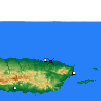 Nearby Forecast Locations - San Juan - Map