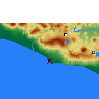 Nearby Forecast Locations - Acajutla/sonsonate - Map