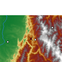 Nearby Forecast Locations - Bucaramanga - Map