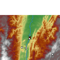 Nearby Forecast Locations - Palanquero - Map