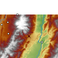 Nearby Forecast Locations - Ibagué - Map