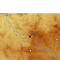 Nearby Forecast Locations - Pirenópolis - Map
