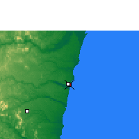 Nearby Forecast Locations - Porto Seguro - Map