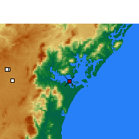 Nearby Forecast Locations - Paranaguá - Map