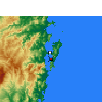 Nearby Forecast Locations - Florianópolis - Map