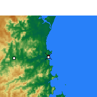 Nearby Forecast Locations - Navegantes Airport - Map