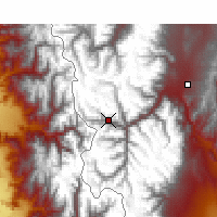 Nearby Forecast Locations - Puente del Inca - Map