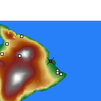 Nearby Forecast Locations - Hilo/Hawaii - Map