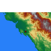 Nearby Forecast Locations - Port Moresby - Map