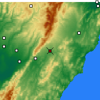 Nearby Forecast Locations - Dannevirke - Map