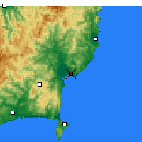 Nearby Forecast Locations - Gisborne - Map
