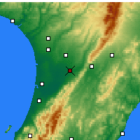 Nearby Forecast Locations - Palmerston North - Map
