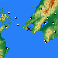 Nearby Forecast Locations - Wellington - Map