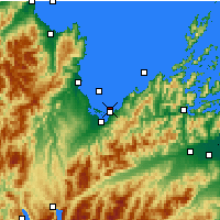 Nearby Forecast Locations - Nelson - Map