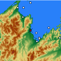 Nearby Forecast Locations - Motueka - Map