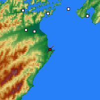 Nearby Forecast Locations - Cape Campbell - Map