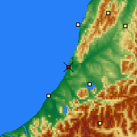 Nearby Forecast Locations - Greymouth - Map