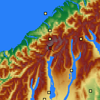 Nearby Forecast Locations - Mount Cook NP - Map