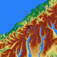 Nearby Forecast Locations - Westland NP - Map