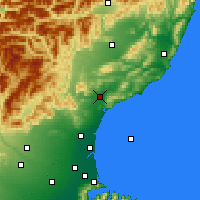 Nearby Forecast Locations - Waipara - Map