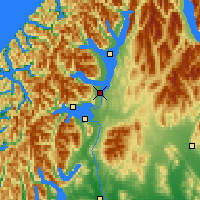 Nearby Forecast Locations - Te Anau - Map