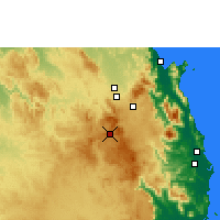 Nearby Forecast Locations - Herberton - Map