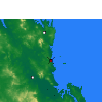 Nearby Forecast Locations - Yeppoon - Map